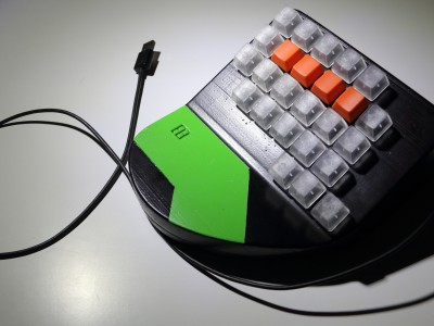 A gaming keypad that we prototyped